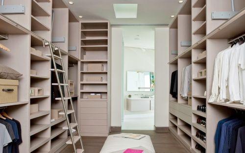 三居室独立式现代简约风格衣帽间效果图