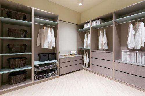 四居室现代简约风格衣帽间装修效果图