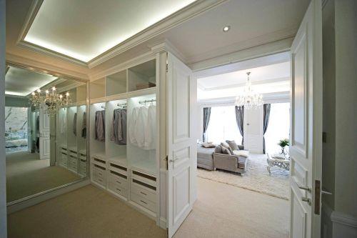 华丽白色现代风格别墅衣帽间衣柜设计欣赏