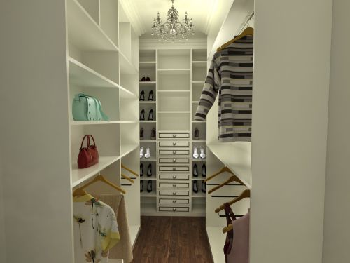 现代简约五居室衣帽间装修效果图