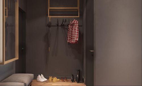 现代简约二居室衣帽间壁纸装修效果图