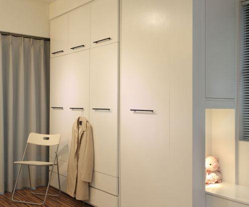 现代简约二居室衣帽间衣柜装修效果图大全