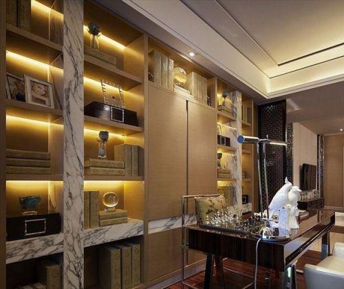 现代简约三居室衣帽间吊顶装修效果图大全