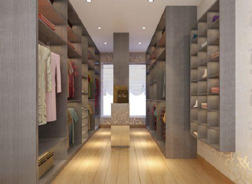 现代简约三居室衣帽间储物柜装修效果图欣赏