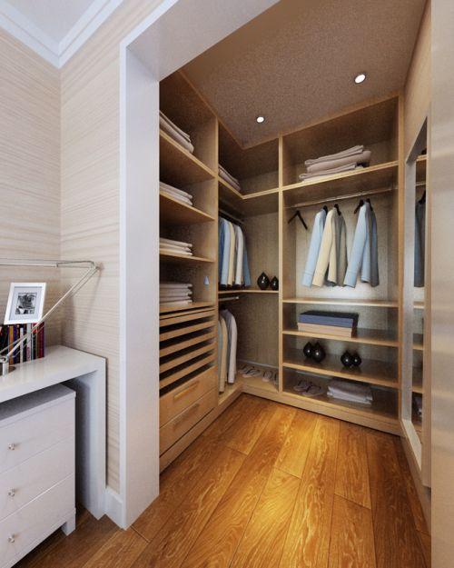现代简约三居室衣帽间装修图片