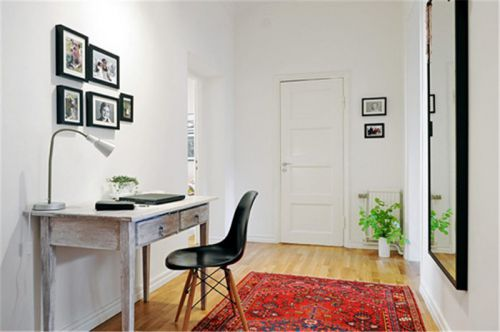 现代简约二居室书房书架装修效果图欣赏