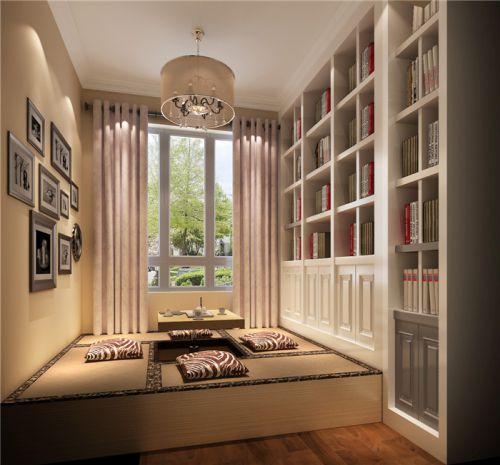 现代简约二居室书房照片墙装修效果图大全