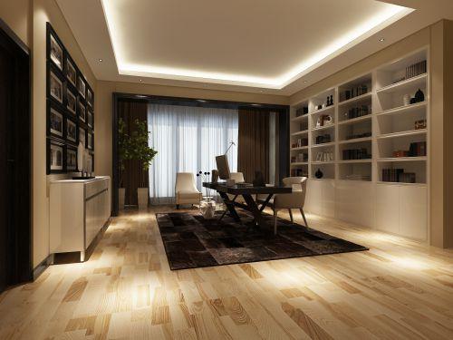 现代浪漫四居室书房装修图片欣赏
