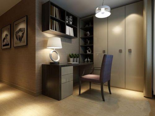 现代简约三居室书房装修图片