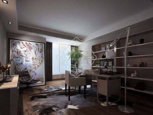 现代简约四居室书房装修图片