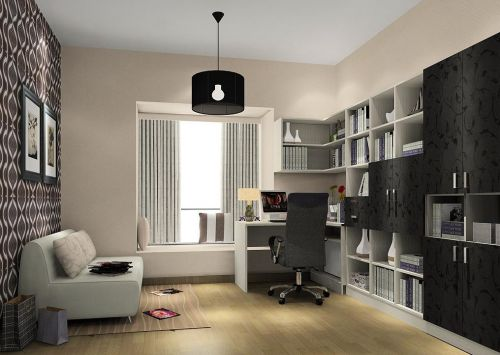 时尚有格调现代简约书房装修效果图