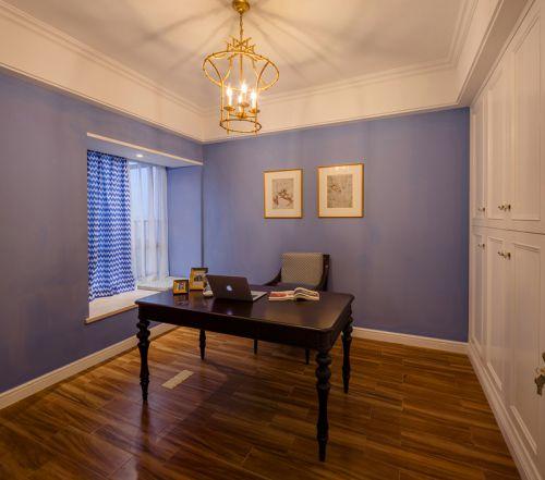 现代简约风格紫色浪漫情缘书房背景墙装修效果图