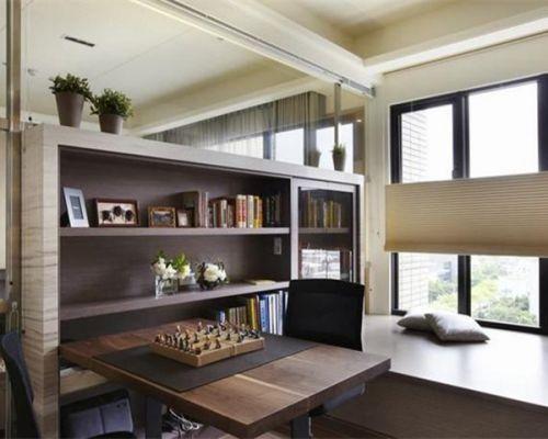 现代简约三居室书房装修图片欣赏