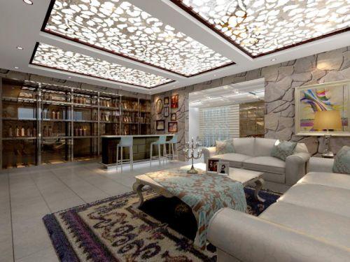 古典与现代结合四居室书房壁纸装修效果图欣赏