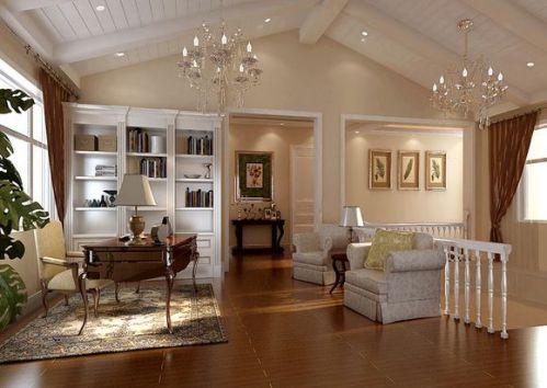 现代简约五居室书房装修图片欣赏