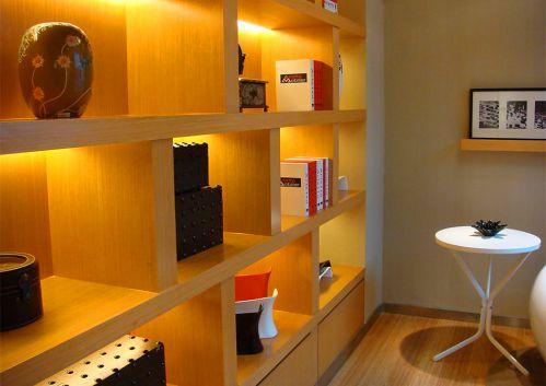 现代简约客厅书柜装修效果图-书房装修图片赏析 家居美图 装修之家效图片