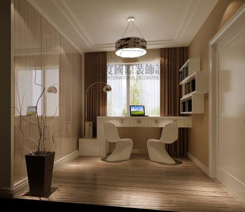 现代简约三居室书房装修效果图欣赏