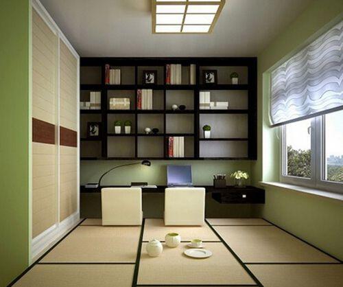 现代大气日韩风格书房装修效果图