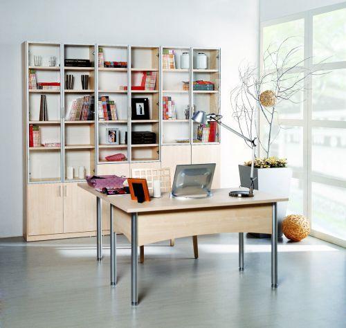 现代简约书房储物柜装修效果图
