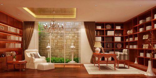 现代简约别墅书房窗帘装修效果图欣赏