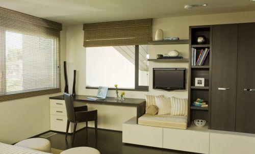 高冷色调现代风格书房装修效果图