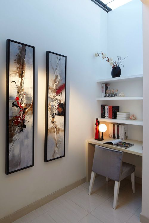 现代简约一居室书房装修图片