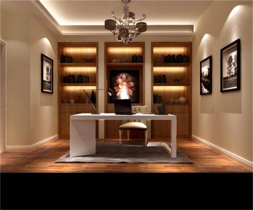 现代简约二居室书房装修图片