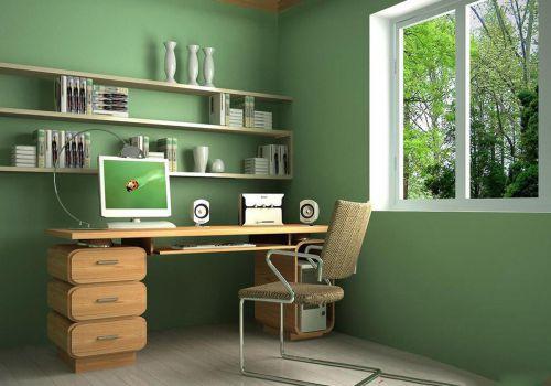现代简约三居室书房茶几装修图片