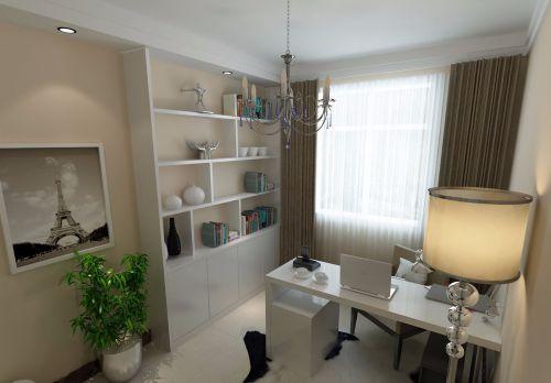 现代简约一居室书房灯具装修效果图欣赏