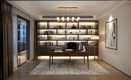 现代简约四居室书房储物柜装修效果图大全