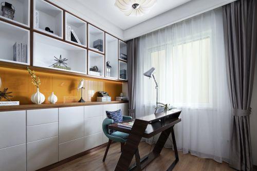 现代简约三居室书房组合柜装修效果图欣赏