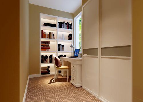 现代简约一居室书房照片墙装修效果图欣赏