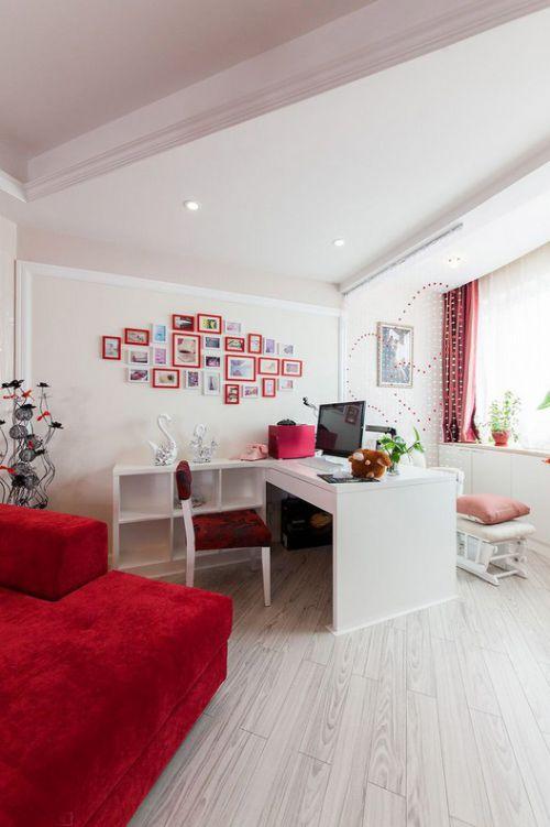 时尚现代风格书房照片墙装修效果图