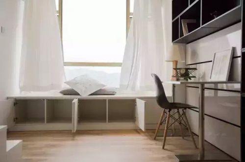 现代简约一居室书房书柜装修效果图大全