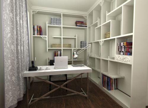 现代简约五居室书房窗帘装修效果图欣赏