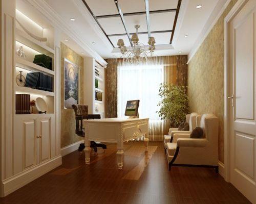 现代简约三居室书房飘窗装修效果图