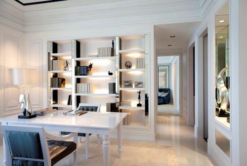 现代简约三居室书房书柜装修图片