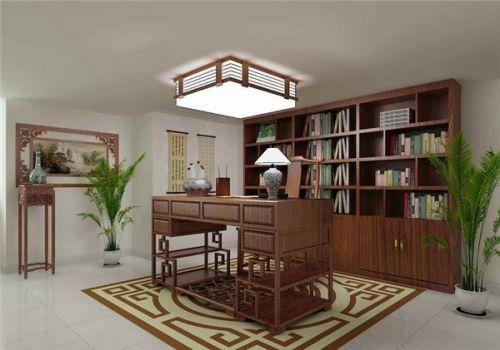现代中式三居室书房装修效果图欣赏
