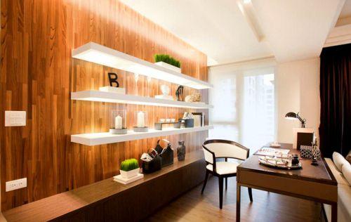 现代简约三居室书房灯具装修效果图欣赏