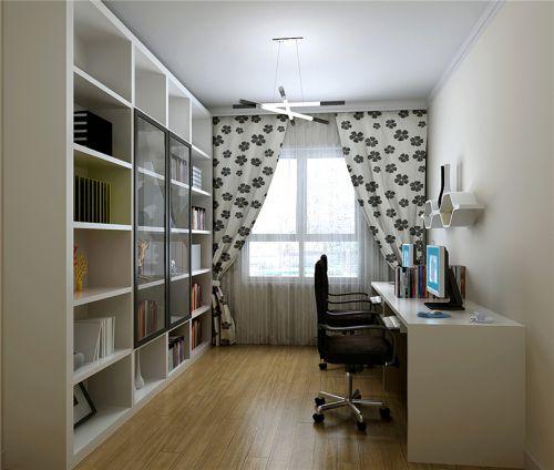 现代简约二居室书房壁纸装修效果图欣赏