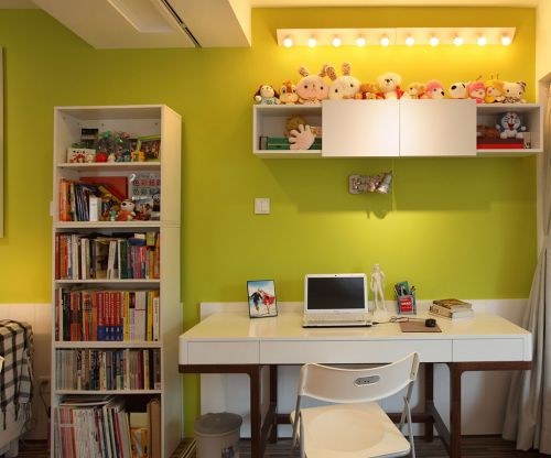 现代简约二居室书房书柜装修效果图大全