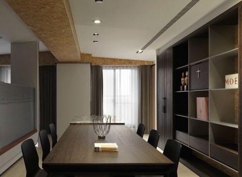 现代简约五居室书房组合柜装修效果图大全