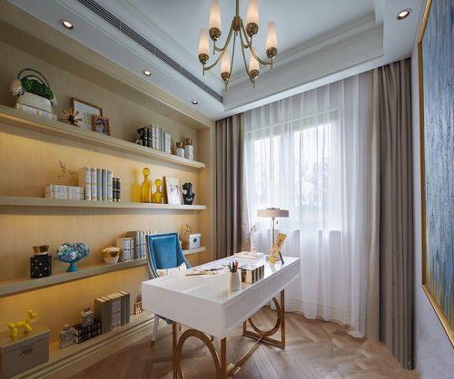 现代简约二居室书房书柜装修效果图欣赏