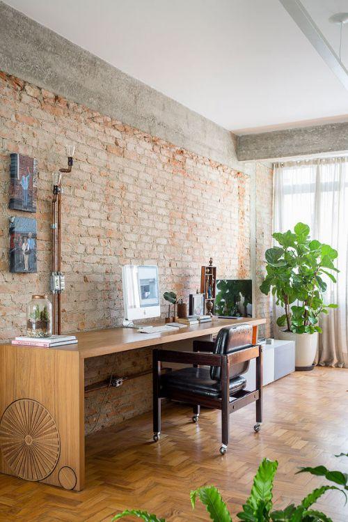 现代简约二居室书房窗帘装修效果图欣赏