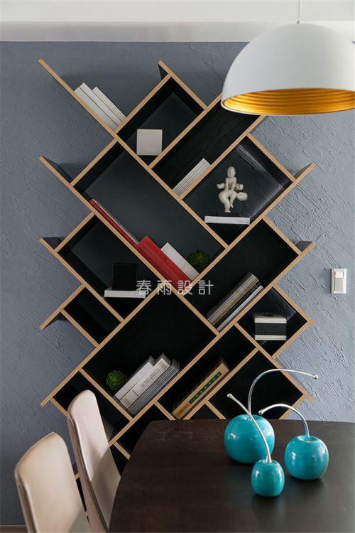 现代简约三居室书房组合柜装修效果图大全