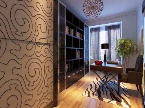 现代简约二居室书房组合柜装修图片