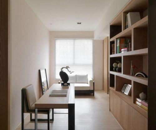 现代简约一居室书房储物柜装修效果图大全