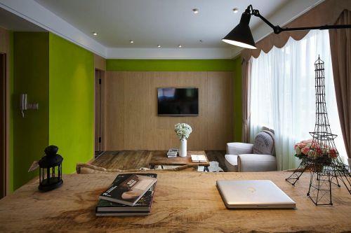 现代简约四居室书房窗帘装修效果图