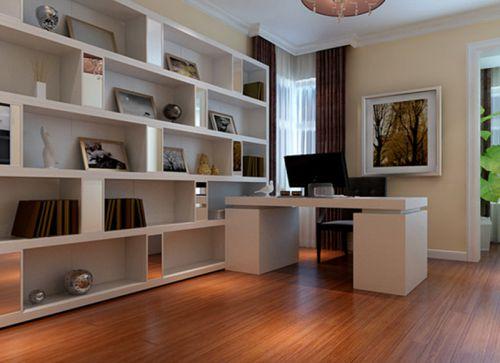 现代简约二居室书房灯具装修图片