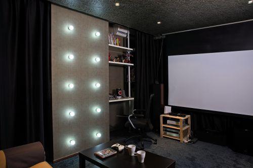 现代简约三居室书房窗帘装修效果图